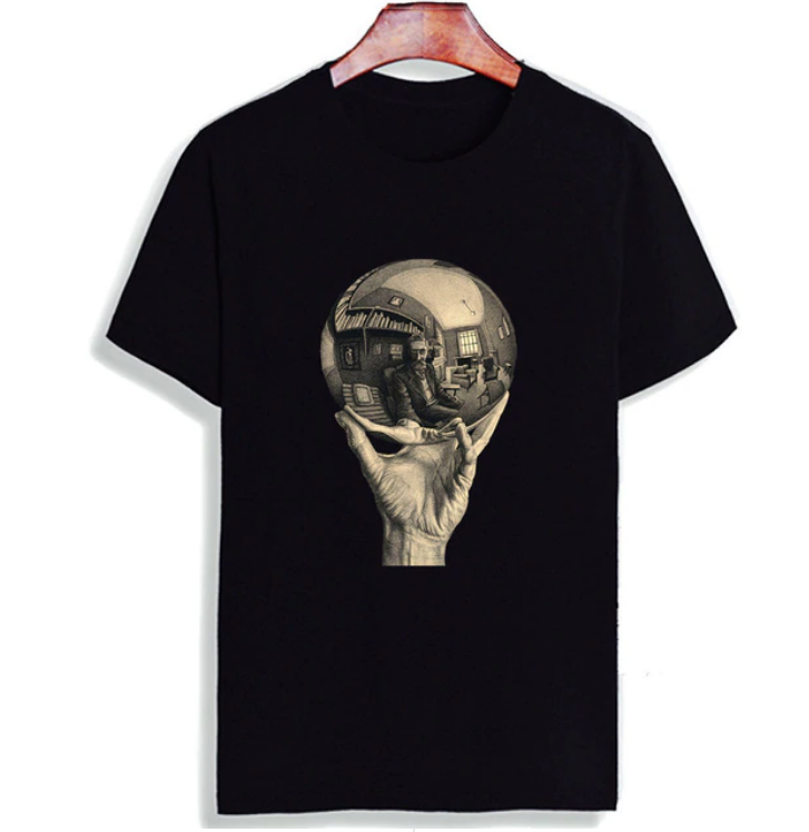 Men's/Women's Casual Short Sleeve Surreal Printed Cotton T-Shirt