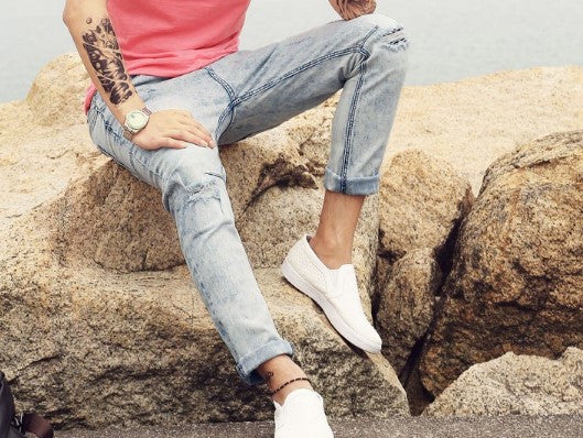 Jeans – Men's High Quality Straight Ripped Jeans | Zorket
