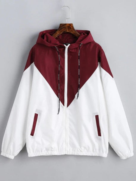 Women's Spring/Autumn Hooded Windbreaker | Ladies Outwear