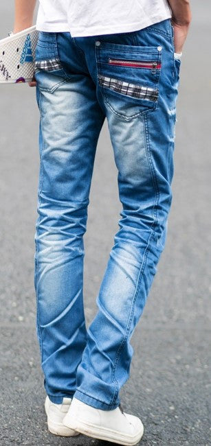 Men's High Quality Slim Casual Jeans - Zorket
