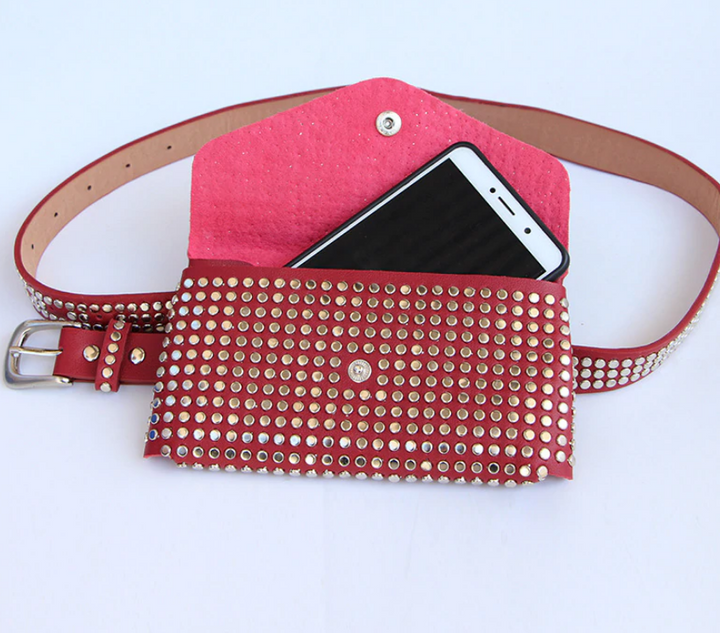 Women's Vintage Casual Pu Leather Mini Bag With Rivets