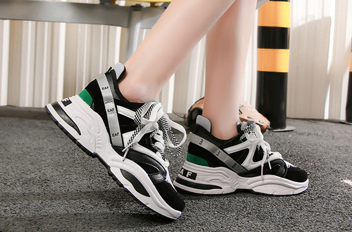 Women's Multi-Colored High Soled Sneakers