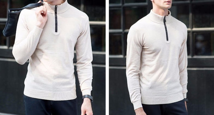 Sweater – High Quality Knitwear Men's Winter Thick Warm Cashmere Pullover | Zorket