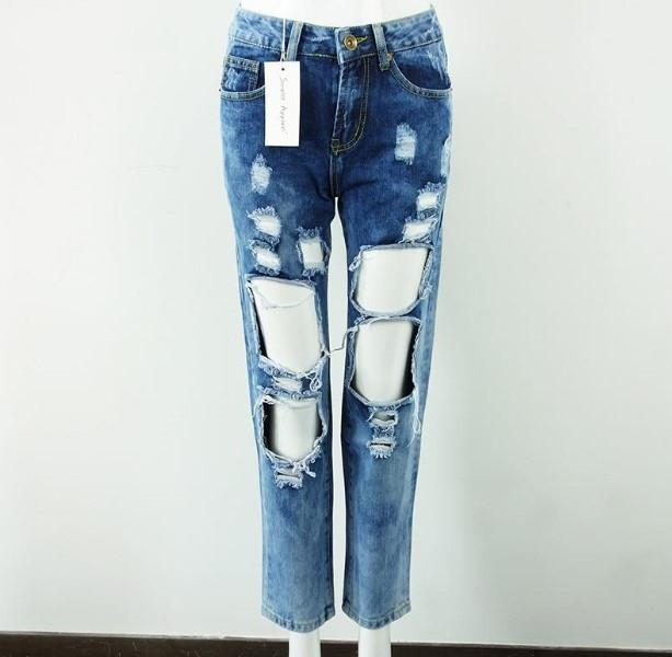 Women's Ripped Fashion Denim Jeans