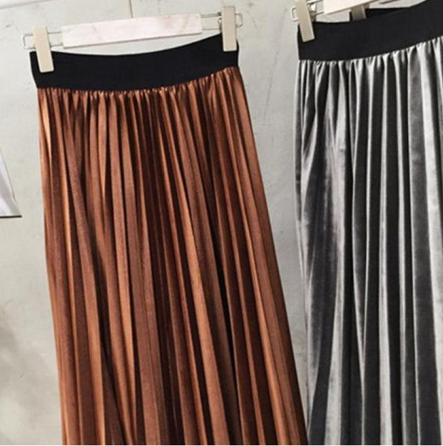 Women's Spring/Autumn Casual High Waist Maxi Skirt