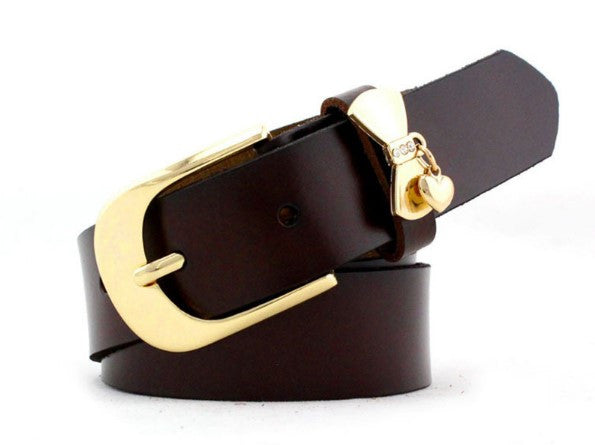 Cowskin Metal Pin Buckle Women's Belt - Zorket
