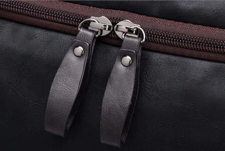 Men's Genuine Leather Travel Bag With Shoulder Strap - Zorket