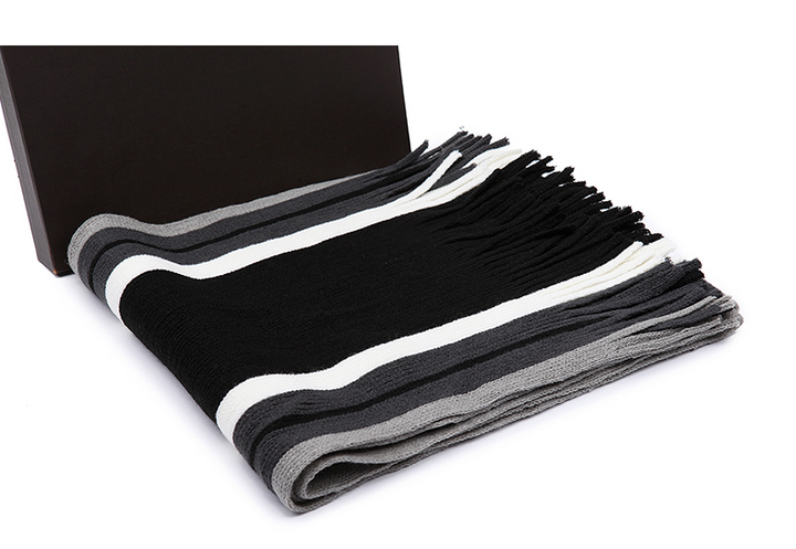 Men's Striped Autumn & Winter Scarf - Zorket