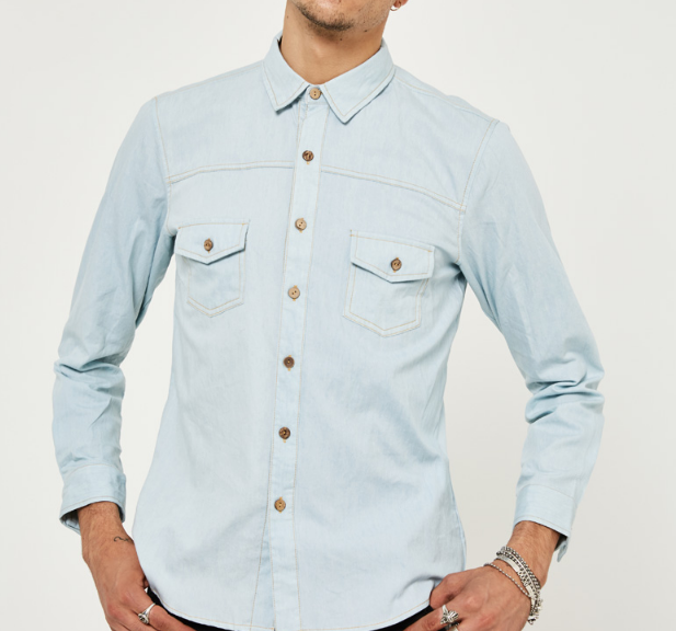 Men's Long Sleeved Slim Cotton Shirt - Zorket