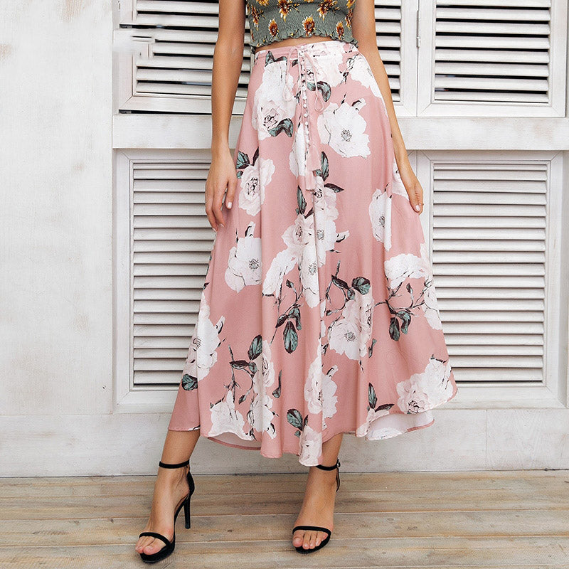e278d4ed0dc Women s Summer Long Skirt With Floral Print