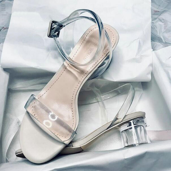 Women's Summer Transparent Ankle Strap Sandals