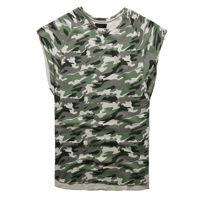 16fe3cccdc528 Men s Summer Camouflage Sleeveless Cotton Tank Top
