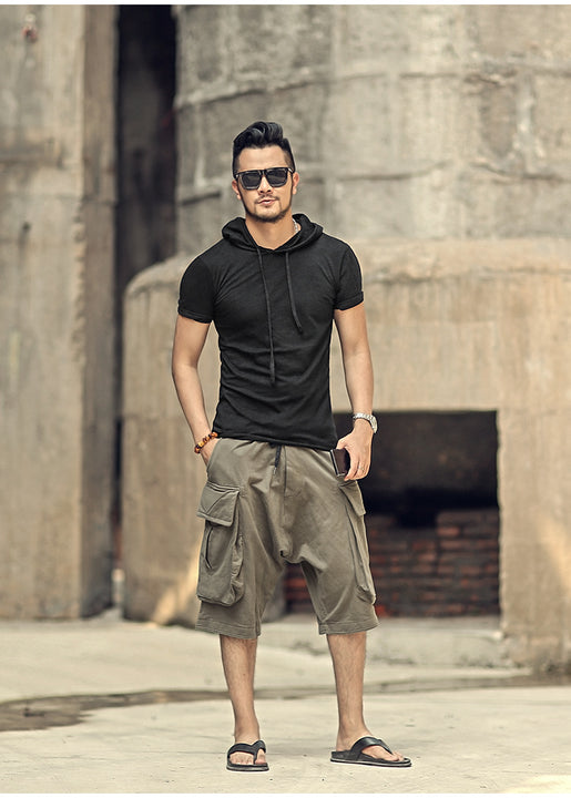 Men's Summer Casual Cotton Cargo Shorts With Big Pockets