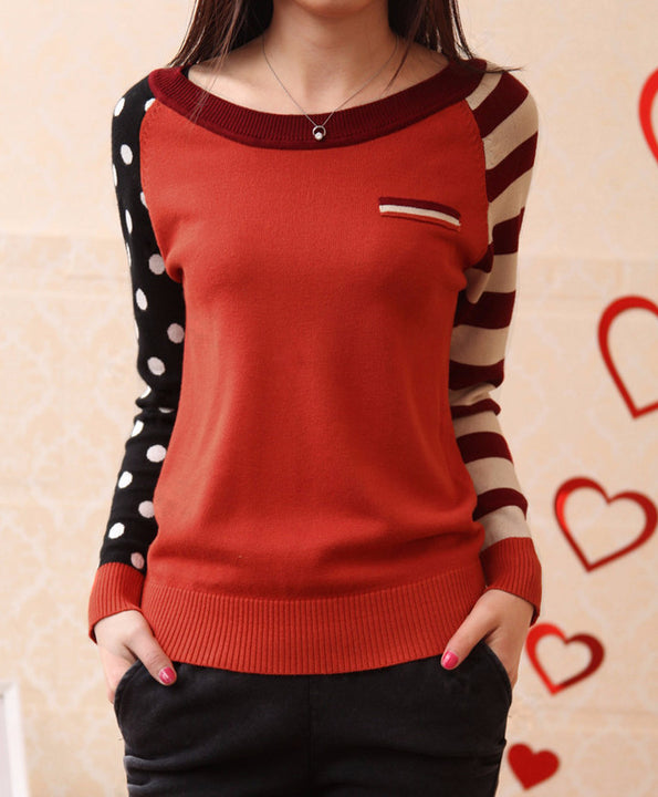 Female Knitted Casual O-Neck  Pullover - Zorket