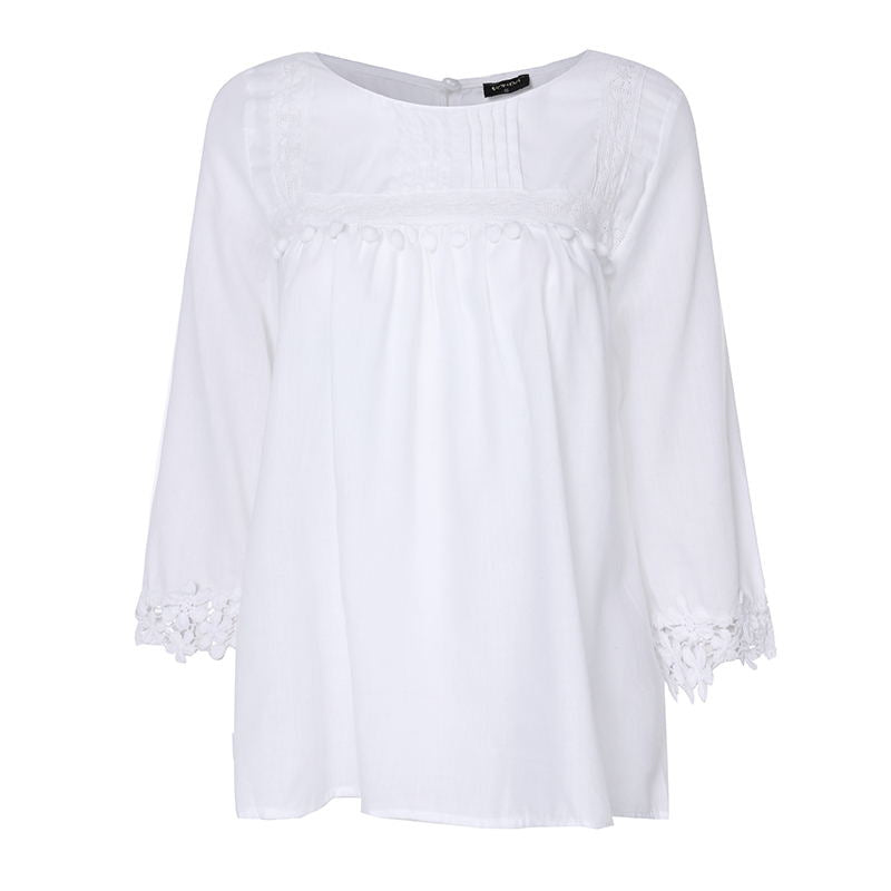 Women's Summer Solid O-Neck Blouse | Plus Size