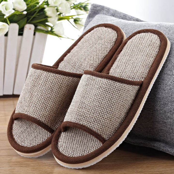 Women's Summer Flax Home Slippers