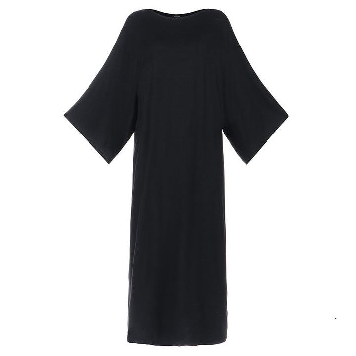 Women's Autumn Casual Loose Cotton Dress | Plus Size