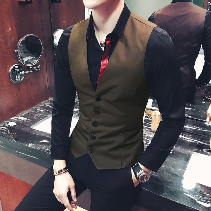 Men's Sleeveless Wedding Vest