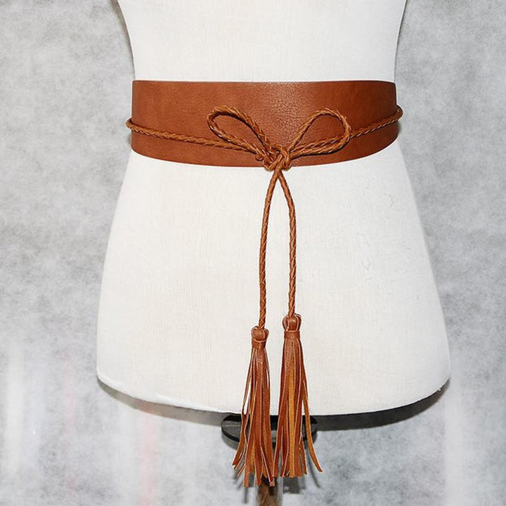 Women's Rope Faux Leather Belt