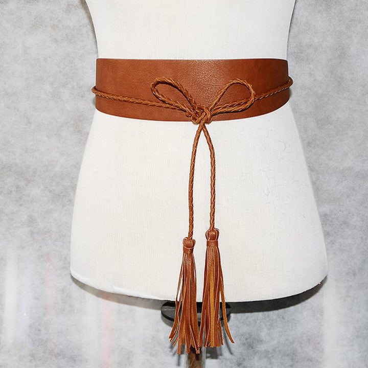 Woman's Rope Faux Leather Belt - Zorket