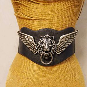 Fashion Lion Head Wide Belt For Women