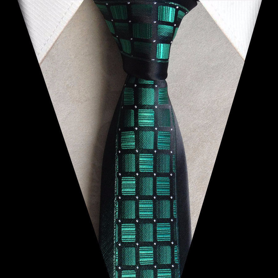 Tie – Male Checkered Necktie With Silver Dots | Zorket