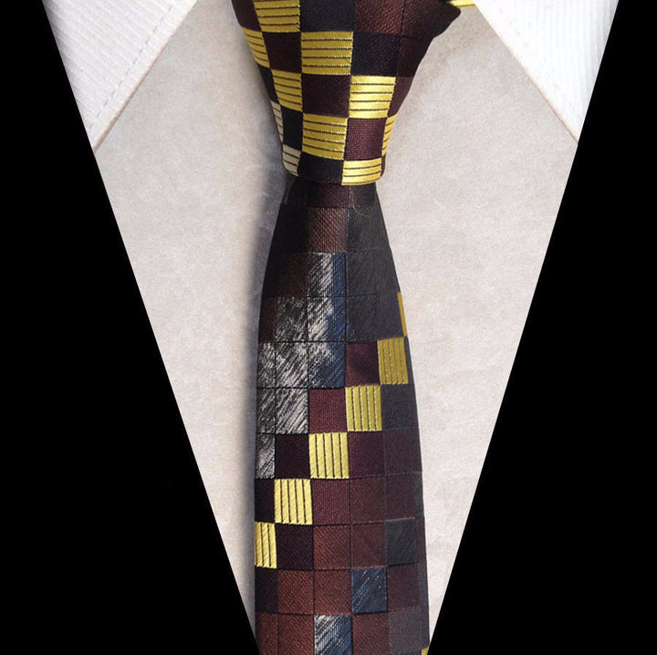Tie – Male Fashionable Necktie With Picture Grid | Zorket