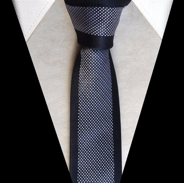 Tie – Stylish Men's Necktie With Silver Dots | Zorket