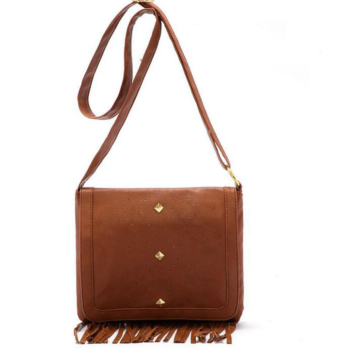 Crossbody Bag – Fashion Tassel PU Leather Retro Style Women's Shoulder Crossbody Bag | Zorket