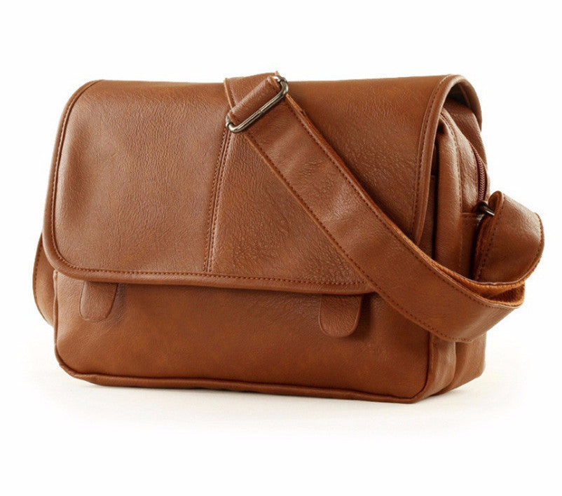 Men's PU Leather Casual Messenger Bag - Zorket