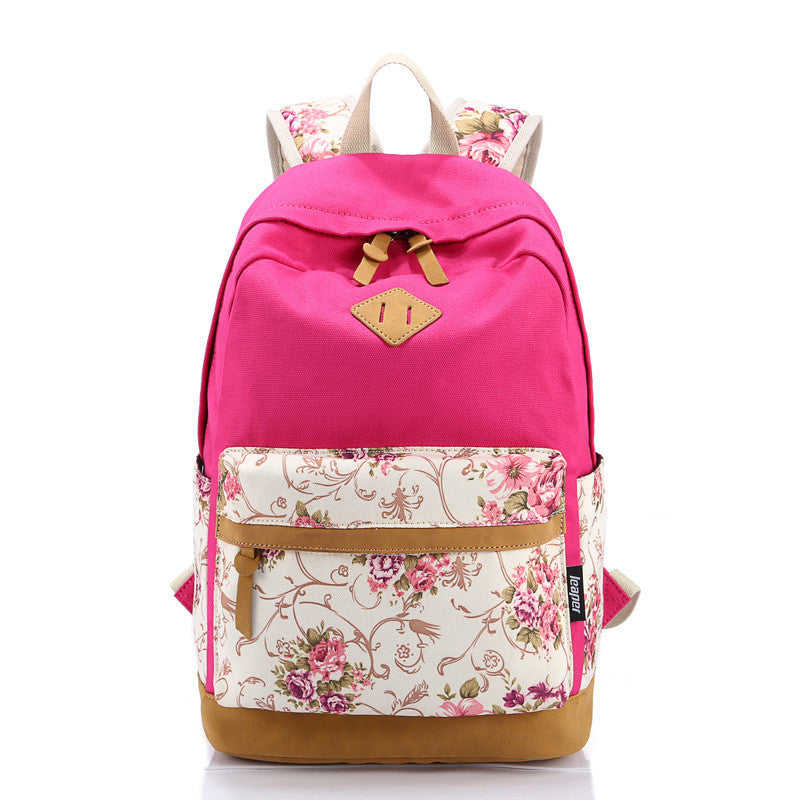 Backpack – Floral Canvas Laptop Women's Backpack | Zorket