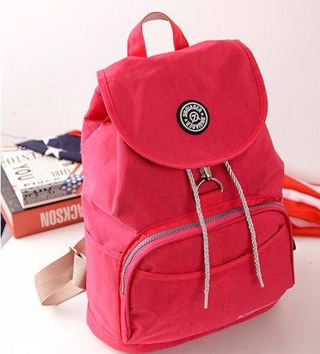 Women's Waterproof Nylon 10 Colors Backpack - Zorket