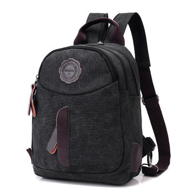 Women's Casuasl Small Canvas Backpack - Zorket