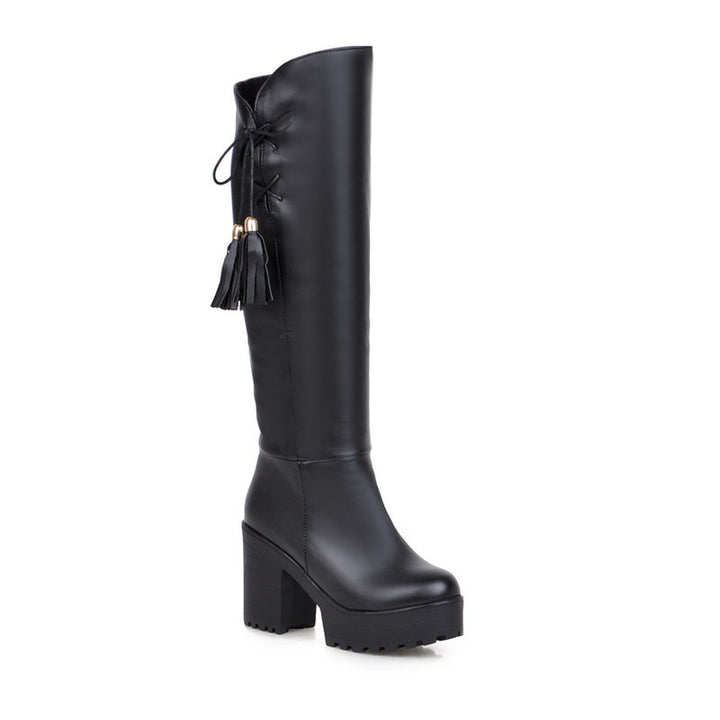 Winter High-Leg Female Thick Heel Platform Boots - Zorket