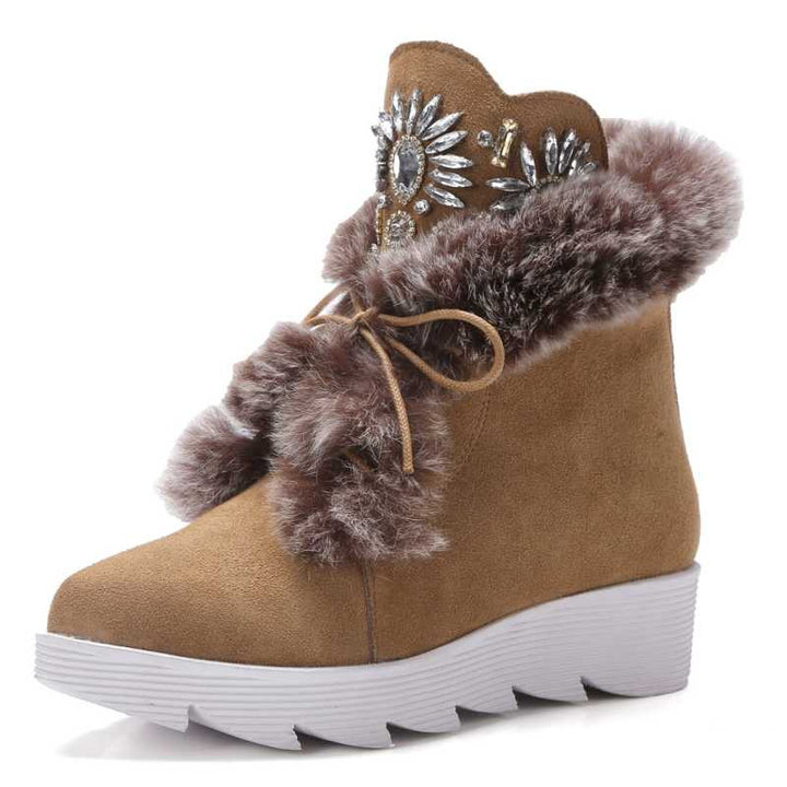Stylish Snow Platform Ankle Boots For Women - Zorket