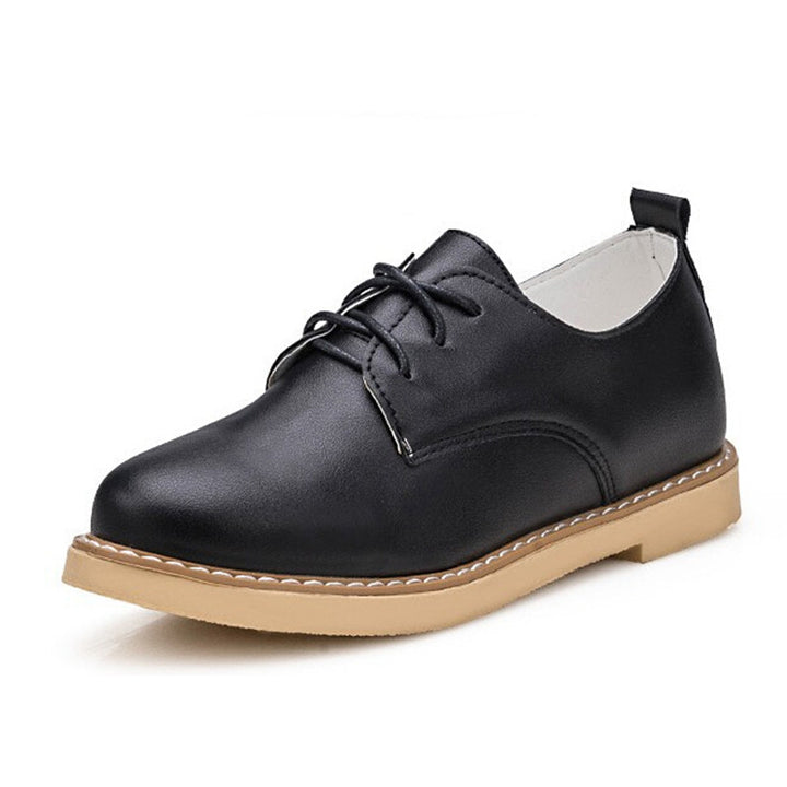 Women's Vintage PU Leather Spring Oxfords - Zorket