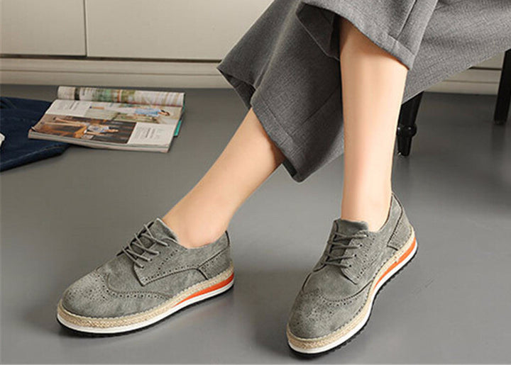 Women's Flat Platform Thick Bottom Shoes - Zorket