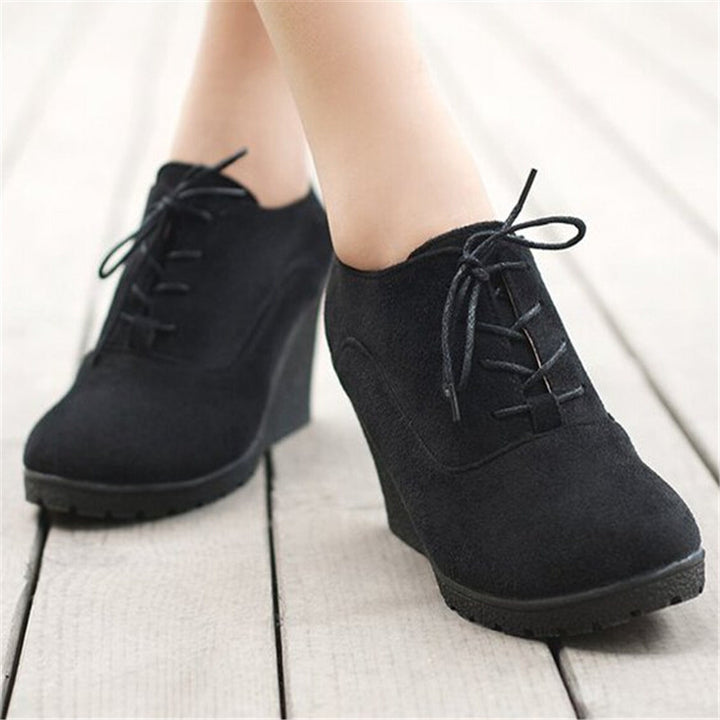 Solid Women's Platform Anti-Slippy Wedge Shoes - Zorket