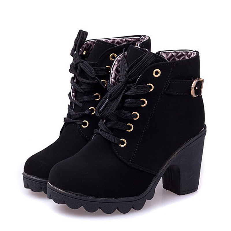 Autumn Casual High Heels Women's Boots - Zorket