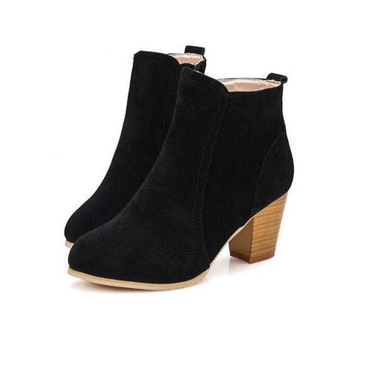 Ponted Toe High Thick Heels Women's Casual Boots - Zorket