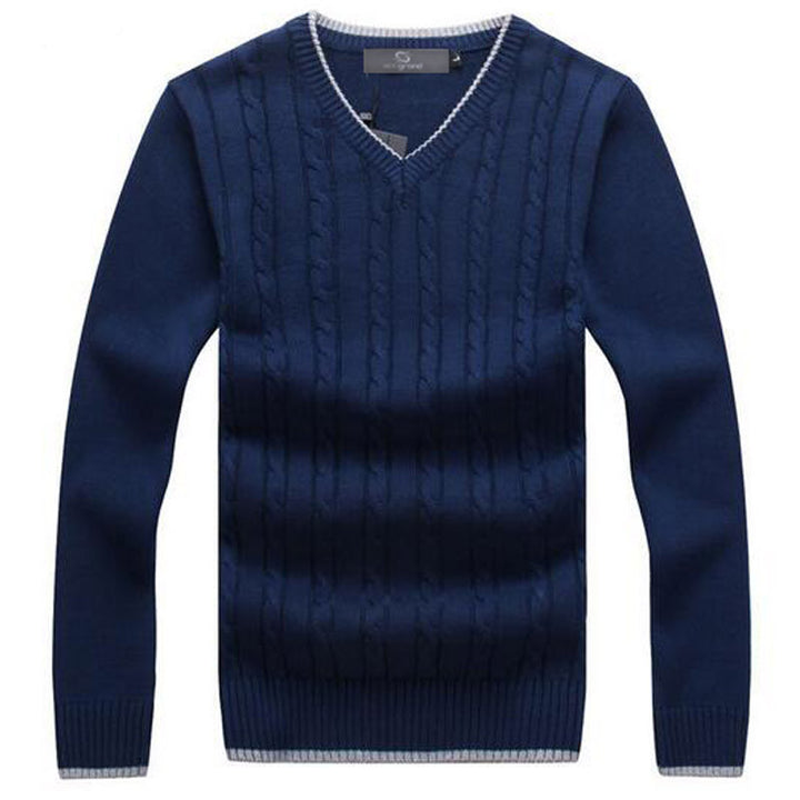 Men's Fashion V-Neck Thick Sweater - Zorket