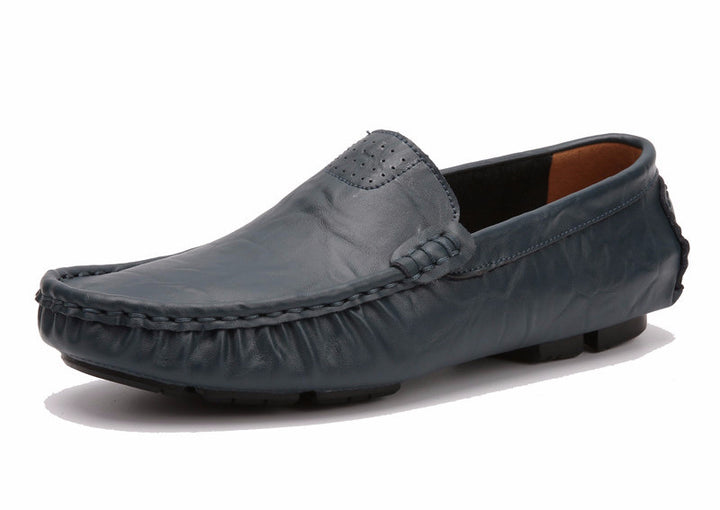 Soft Leather Solid Comfortable Men's Casual Loafers - Zorket