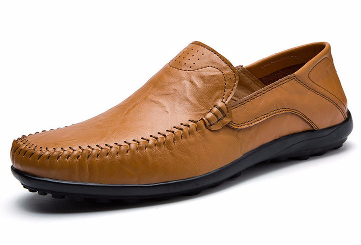 Loafers – Men's Casual Flat Genuine Leather Loafers | Zorket