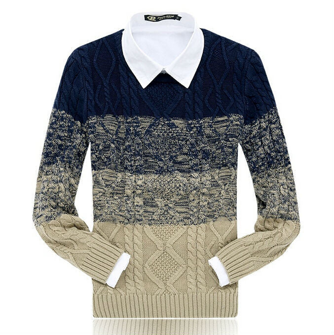 Men's Winter O-Neck Casual Thick Sweater - Zorket