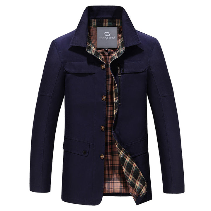 Men's Fashion Stand Collar Wide-Waisted Autumn Coat - Zorket