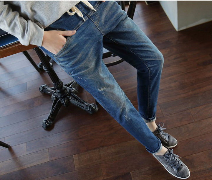Female Casual High Waist Loose Jeans - Zorket