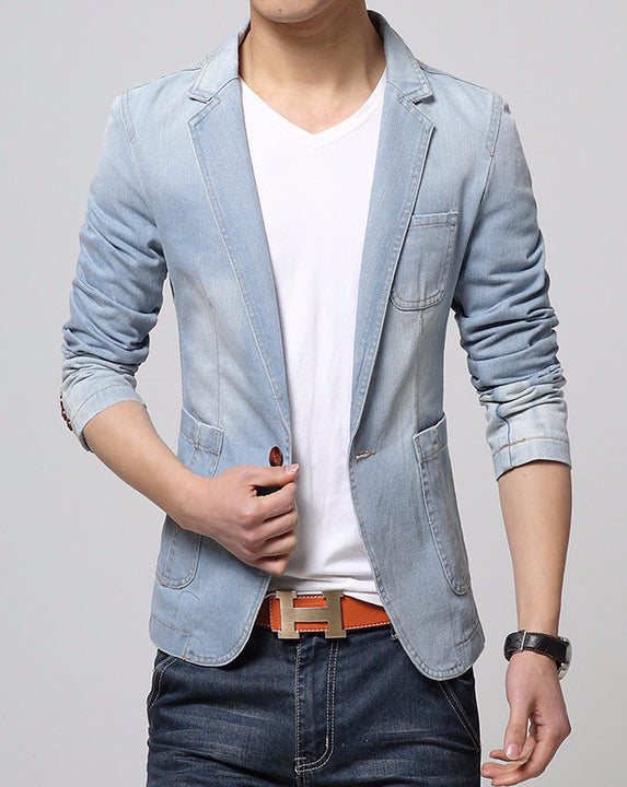 Blazer – Men's Casual Fashion Denim Blazer | Zorket