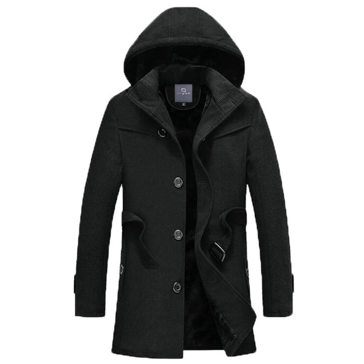 Men's Long Stretch Thick Winter Coat - Zorket