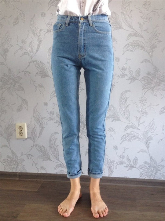 Vintage High Waist Women's Denim Jeans - Zorket