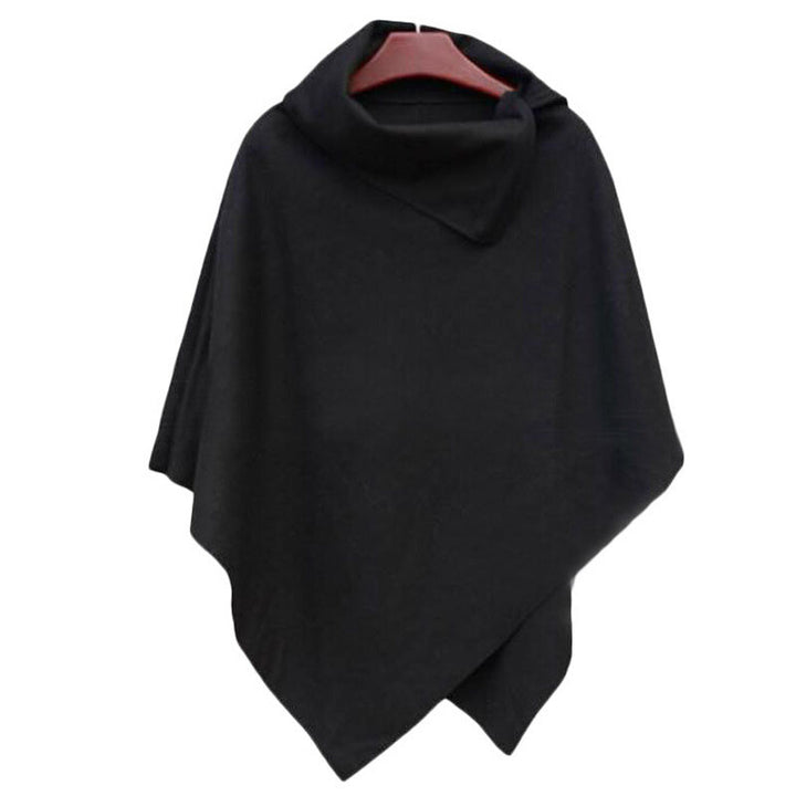 Female Casual Solid Color Poncho - Zorket